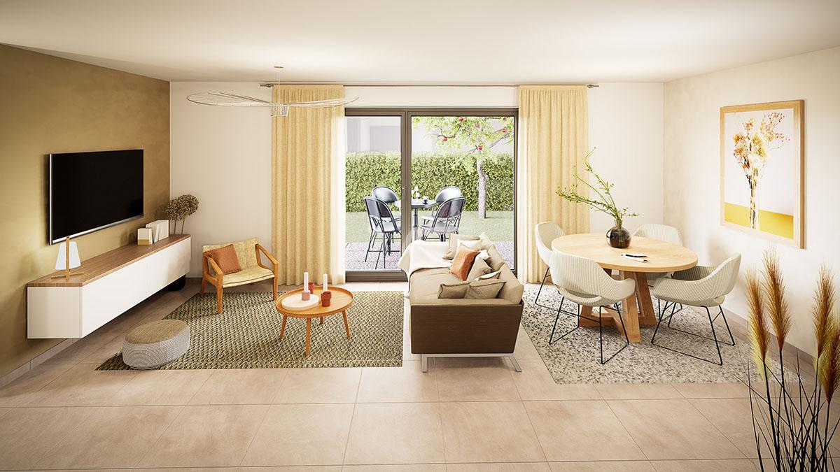 Exemple séjour appartement